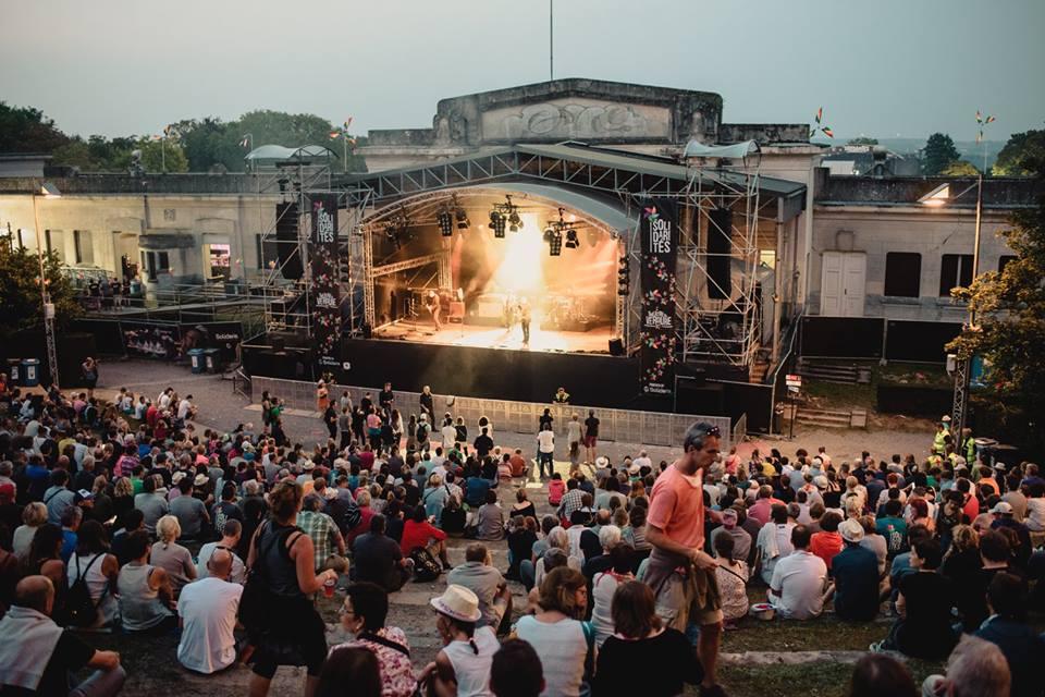 Belgium in August: The beautiful open air stage at the Namur Citadel, Belgium