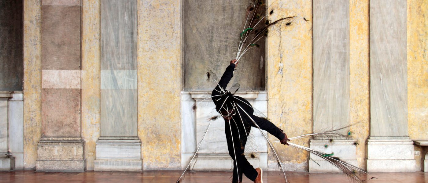 performance art Moussa Sarr peacock