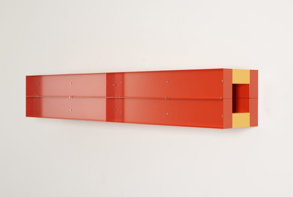 Piece by Donald Judd, American minimalist and sculptor